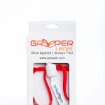 Triathlon Laces Greeper® Laces Sports Oval HT – Red