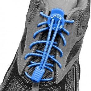 lock laces blue triathlon laces