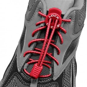 lock laces red triathlon laces