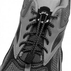 lock laces black triathlon laces