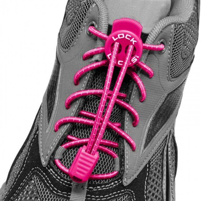 lock laces pink triathlon laces