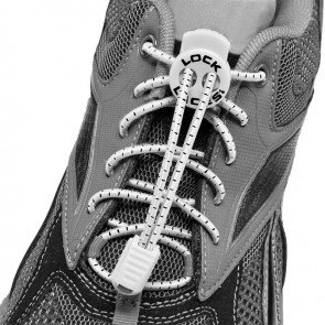 lock laces white triathlon laces